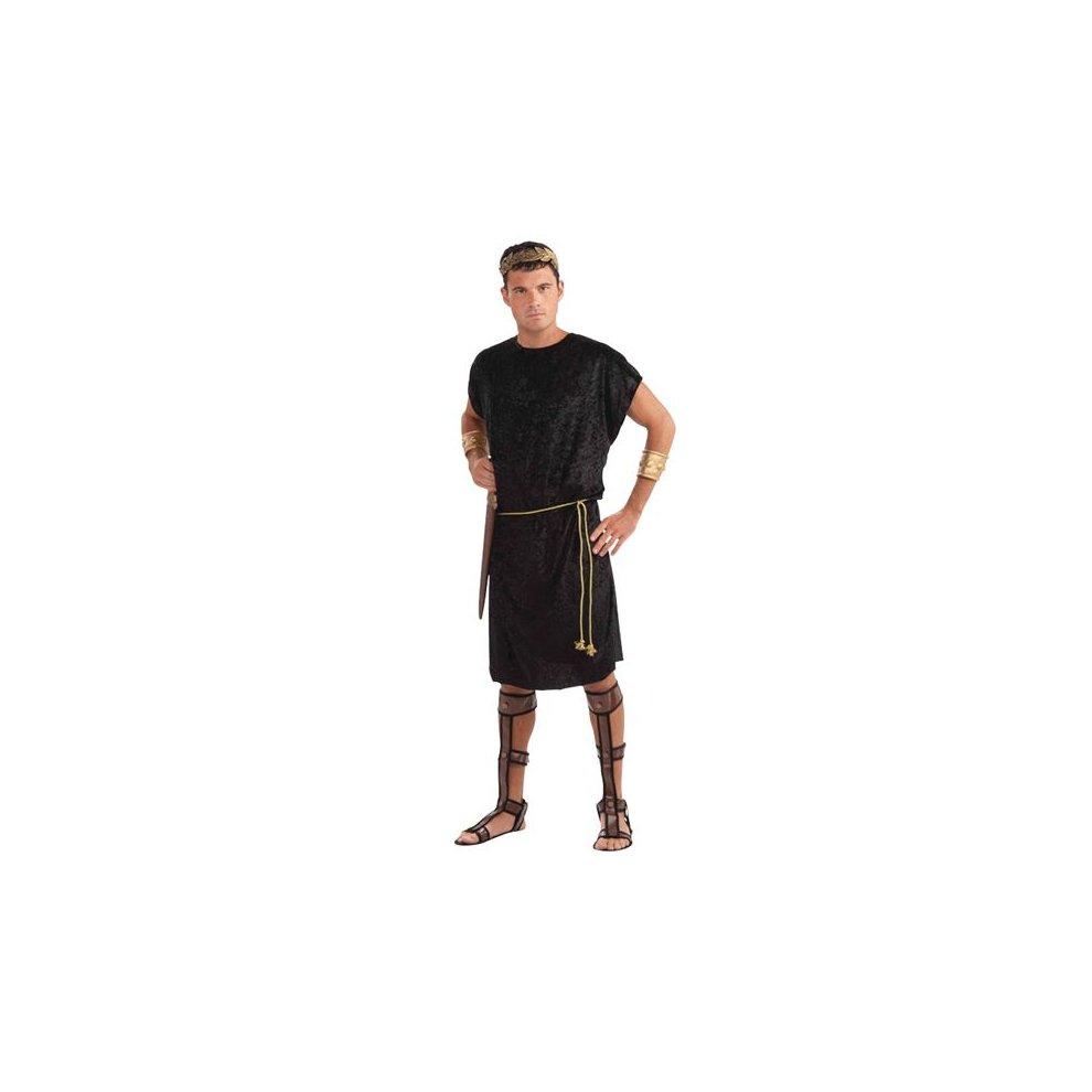 Black Men S Roman Tunic Costume Black Fancy Dress Tunic Costume