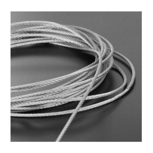 Plastic Coated Steel Wire Rope 4mm x 20 Meters (3mm 1mm Plastic Coating)