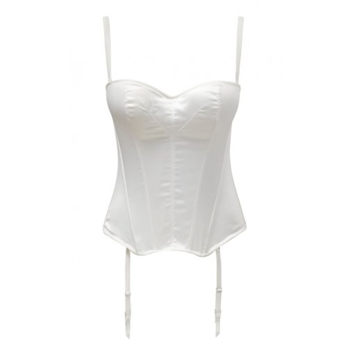 Masquerade Womens Tiffany Basque size 30DD in Ivory
