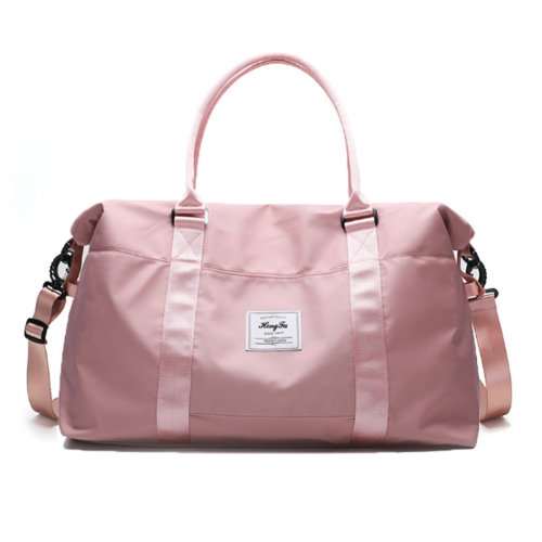 Portable Luggage Bag for Travel Gym Sports, Pink