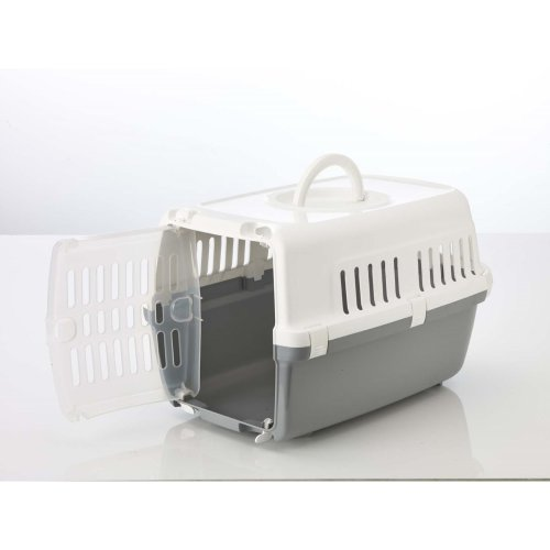 Zephos 1  Pet Carrier White/cold Grey (Pack of 4)
