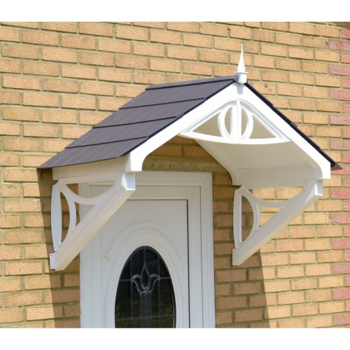 White Rockingham Door Canopy | Over Door Awning