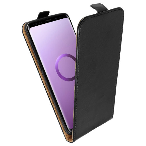 Vertical flip case, synthetic leather case for Samsung Galaxy S9 Plus – Black