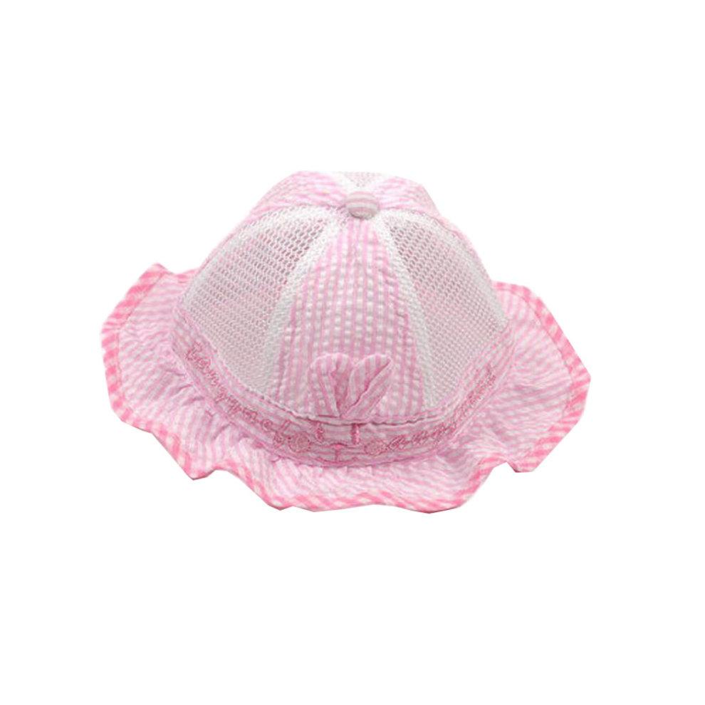 a50ae245 Cute Baby Sun Protection Hat Infant Floppy Cap Cotton Sun Hat 0-3-6 ...