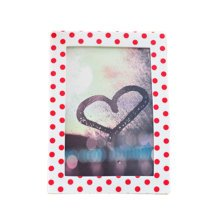 "Creative Lovely Dots Silica Gel Decor Recycle Wall Photo Frames 4*5.9"" Red"