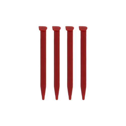 Stylus for 2DS XL Nintendo slot in touch screen ZedLabz - 4 pack red