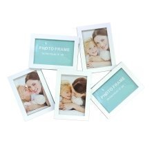 Home Decoration White Collage Photo Frame for 5 Pictures 10 x 15cm