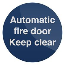 Fixman Automatic Fire Door Sign 100 x 100mm Self-adhesive - Automatic Fire Door -  automatic fire door x 100mm selfadhesive sign fixman 836711