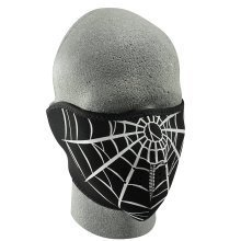 Half Face Cold Weather Ski Mask - Spider Web