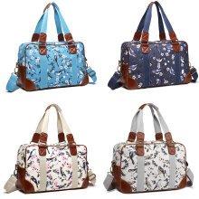 Buy 1 Get 1 at 20% Off Miss Lulu Women Handbag Bird Flower Large Shoulder Bag Maternity Overnight Oilcloth Tote