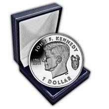 British Virgin Islands 2013 John F Kennedy 50th Anniversary Unc. CuNi Coin in a box