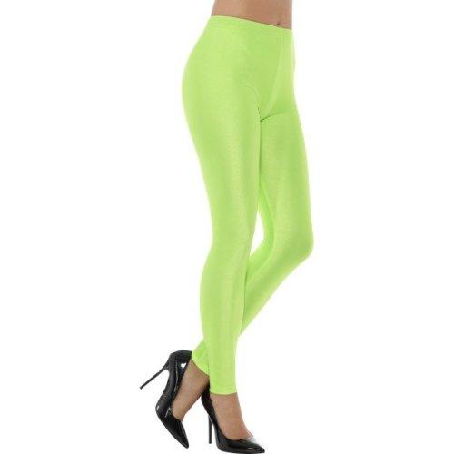 Smiffy's 48111s 80's Disco Spandex Legging (small) - Ladies 80s Leggings Womens -  ladies 80s disco spandex leggings womens neon fancy dress costume