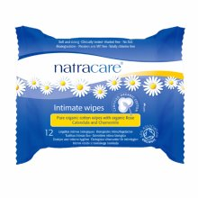 Natracare  Intimate Wipes - Organic (12 Wipes) 12 Pack x 24