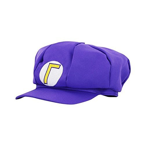 thematys Super Mario, purple, Waluigi for adults and children, carnival disguise, costume beanies, hat cap, men's, women's, flexible, 4424457459529