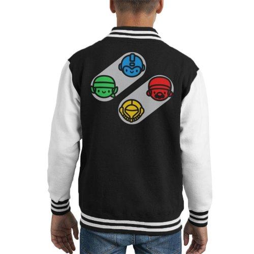 Snes Classic Characters Kid's Varsity Jacket