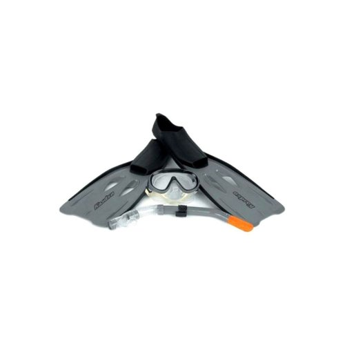 Osprey Adult Fins Flipper, Mask & Snorkel Diving Swimming Set Grey 6-7