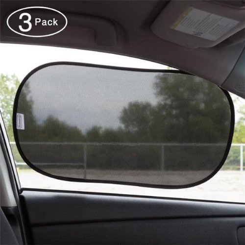 Stalwart 75-CAR1036 Windshield Sun Shade with Static Cling Surface, Pack of 3