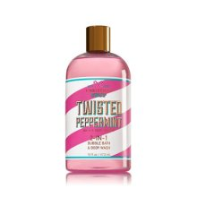 Bath and Body Works Twisted Peppermint 2 in 1 Bubble Bath and Body Wash Christmas Shop 2017 16 Ounce