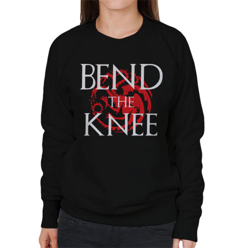 Game Of Thrones Bend Knee Dragon Women's Sweatshirt