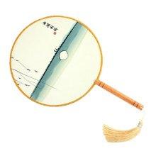Elegant Hand Fan Aulic Circular Fan Chinese Fans Handheld Fan Mandarin Fan J