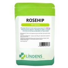 Lindens Rosehip 100 Capsules 2000mg Rose Hips Bioflavonoids Supplement