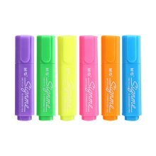 Set of 6 Tank-Style Highlighters, Permanent Mark Pens For Students, Multi Colors