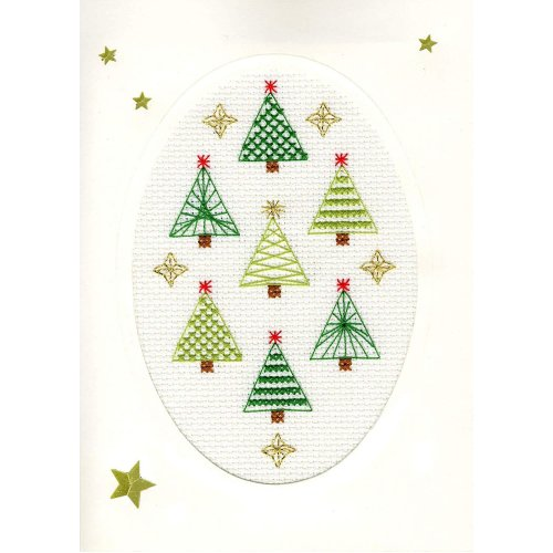 Bothy Threads Cross Stitch Kit - Christmas cards :   Christmas Forest  XMAS23
