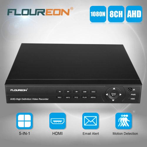 FLOUREON 8CH 1080P 1080N AHD CCTV Security Video Recorder Cloud DVR