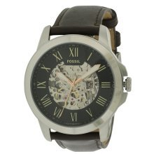 Fossil Grant Automatic Leather Mens Watch ME3100