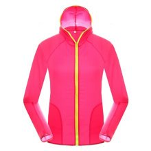 Windproof UV Protector Outerwear Sports Jacket  Quick Dry  Skin Coat, Rose