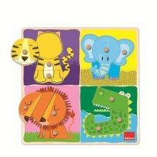 Goula Jungle Animals Wooden Peg Puzzle (12 Pieces)