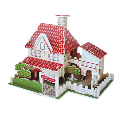 3D Simulation Model Wooden Jigsaw Puzzle Toy Creative Country House