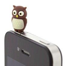 3 Pcs 3.5mm Cell Phone Universal Dust Plug Cartoon Ear Cap Owl