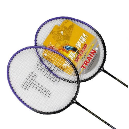 Ultra Light Purple Titanium Alloy One Pair Badminton Racquets for Couple