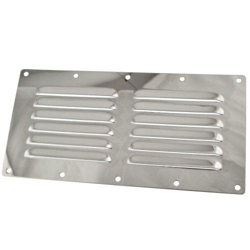 Stainless Steel Louvre Vent Air Ventilator Grill 232mm x 116mm Marine Grade DK10