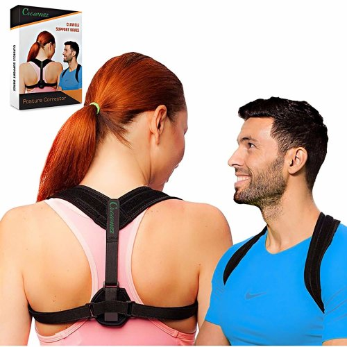 Posture Corrector for Men and Women - Adjustable Back Brace for Shoulder & Spine Support - Perfect Back Straightener with Airflow Engineered for...