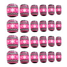 24 Pcs Fashion Nails Stickers Beautiful Nail Decorations False Nails Tips [K]