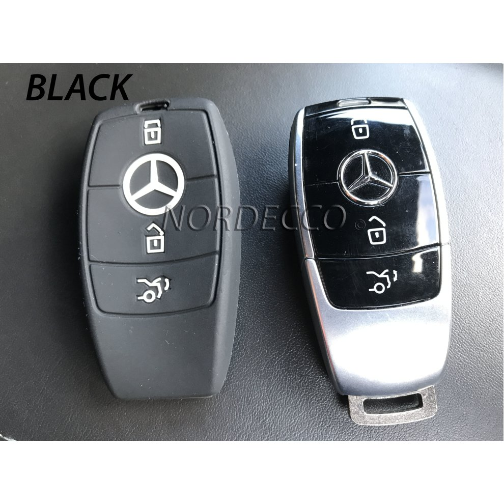 New high quality silicone 3 button smart intelligent key for Mercedes benz key fob