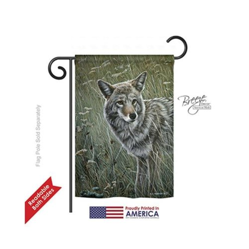 Wildlife & Lodge Coyote 2-Sided Impression Garden Flag - 13 x 18.5 in.