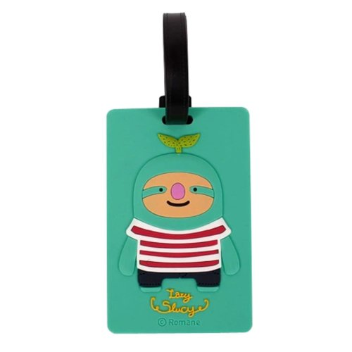 Set Of 2 Fashional Luggage Tag Bag Tags Silicone Name Tag Travel Tag [Green]