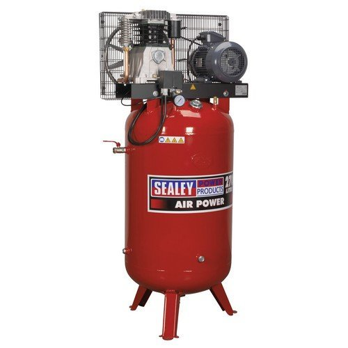 Sealey SACV42755B Compressor 270ltr Vertical Belt Drive 5.5hp 3ph 2-Stage