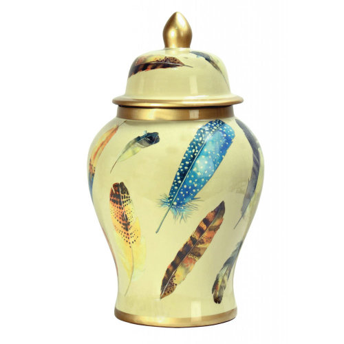 Chinese Large Feather Jar