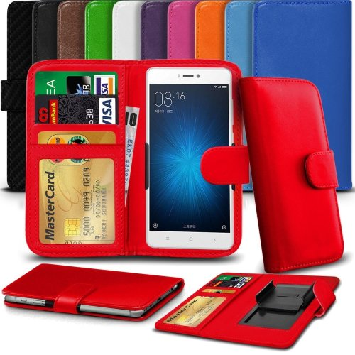 "iTronixs - Archos 50f Neon (5"") High Quality Clamp Style PU Leather Wallet Case Cover"