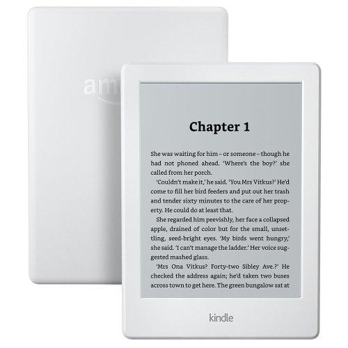 """Kindle E-Reader, 6"""" Glare-Free Touchscreen Display, Wi-Fi (White)"""