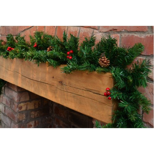 2.7M (9ft) Premier Green Festive Christmas Garland with PVC Berry & Cones