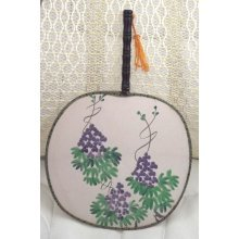 Purple grape Fan 1980's Purple Grape Hand Fan 1980's Vintage
