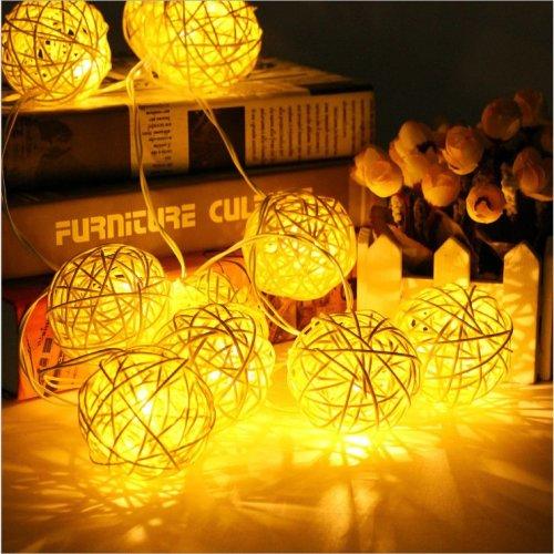 20LED Rattan Wedding Party Garden Festival Ball String Lights