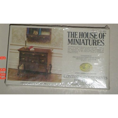 The House of Miniatures Chippendale Lowboy Circa 1725 Wood Assembly Kit No 40024