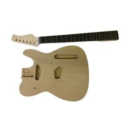 Luthier DIY Guitar Kit GD605  All Pre-drilled With White Fitting, Neck Bolt on. Alder WOOD