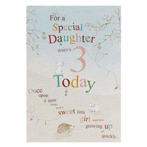 Hallmark 3rd Birthday Card For Daughter With Stickers